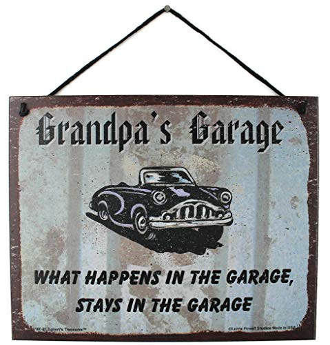 Vintage Style Sign with Classic Car Saying