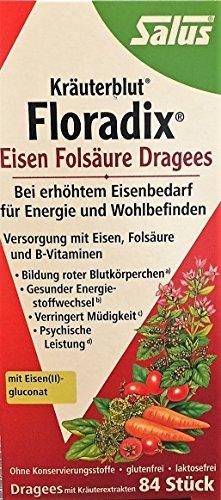 Salus Floradix Eisen Folsäure Dragees, 3 x 84 Stück