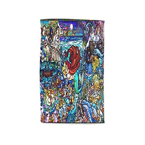 Large Puzzle Juego de toallas de baño de princesas de Disney gruesas, supersuaves y absorbentes, 100% egipcias peinadas (80 x 130 cm)