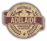 Adelaide City Australia Grunge Travel Stamp Car Bumper Sticker Decal