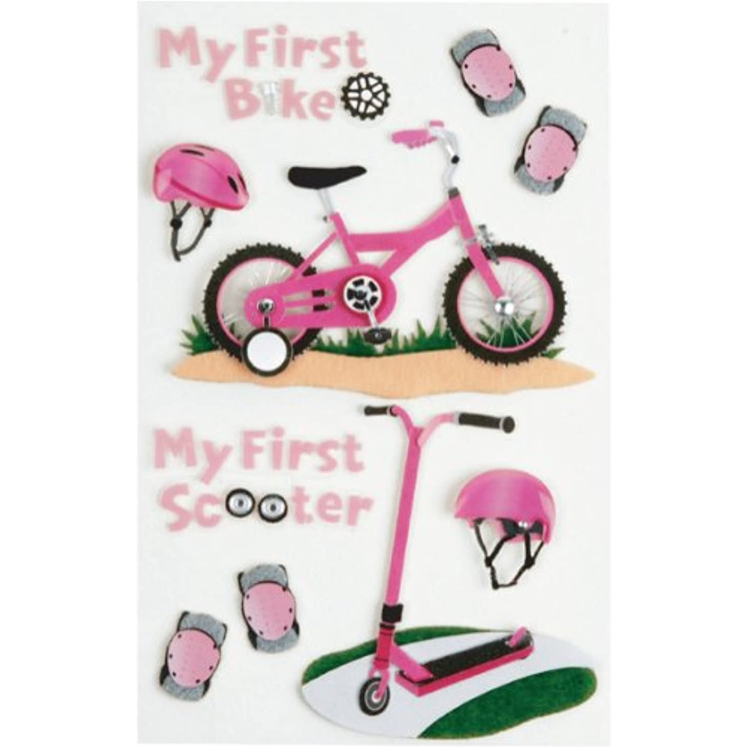 Little B 100318 Dimensional Stickers, Medium, First Bicycle Girl