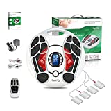 Foot Massager Circulation Stimulator Machine with TENS Unit ( FSA or HSA Eligible ) Electrical Muscles Stimulator Feet Legs Health for Neuropathy Diabetes Relieve Pains and Cramps