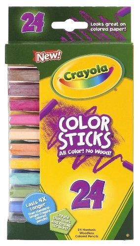 Crayola Color Stick Pencils, Assorted Colors, 24 Count, Multicolor (68-2324)