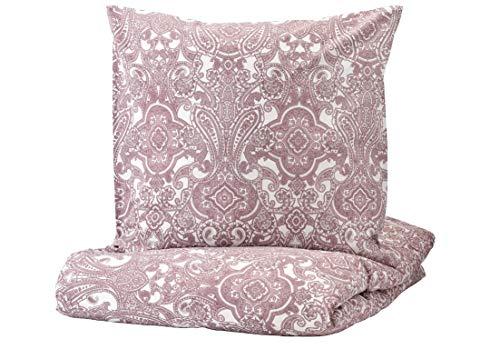 JÄTTEVALLMO IKEA Bettwäscheset in rosa; 100{363f7f9802d3e12581ddc233b7fd9b14c917ceb656090045e3537e66475559ee} Baumwolle; 2-teilig; (140x200/80x80cm)
