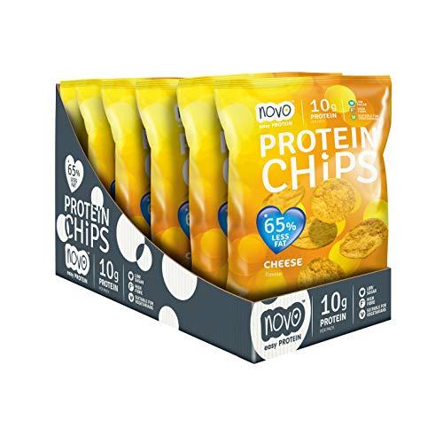 Novo Nutrition Protein Chips - 6 Pezzi da 30 g, Totale: 180 gr