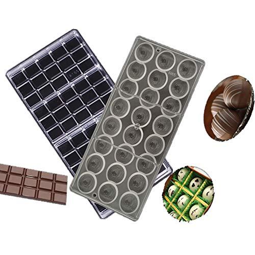 Fellibay Lot de 2 moules à chocolat, moules à macaron, moules à muffins, moules à pâtisserie Taille M a