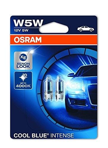Osram 2825HCBI-02B Cool Blue Intense W5W Luci di Posizione Alogene/Targa/Posteriori, 12V, Blister Doppio