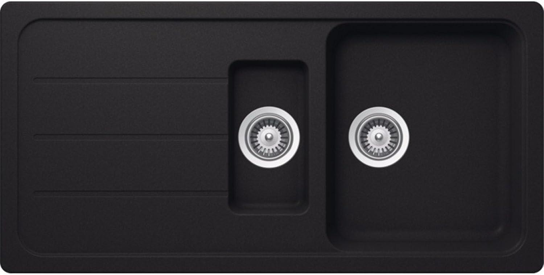 Schock Formhaus D150L 1.5 Bowl Onyx Black Granite Kitchen Sink & Waste