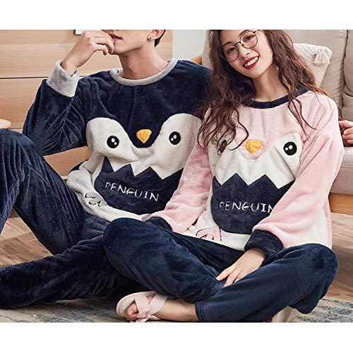 JJF Modelos de Otoño E Invierno Pijamas de Pareja/Invierno