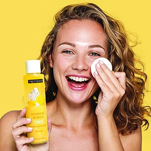 Freeman Birch Toner for Face, Shine Control For Oily Skin or All Skin Types, Facial Pore Minimizer