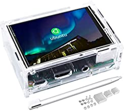 kuman 3.5 Inch Touch Screen TFT Monitor LCD Dsiplay with Protective Case 320x480 Resolution TFT LCD Display for Raspberry Pi 3B+,3B,2B,B+ Pantalla Táctil SC107