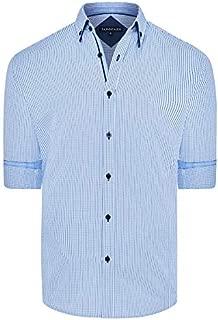 Tarocash Men's Hampstead Check Shirt Regular Fit Long Sleeve Sizes XS-5XL for Going Out Smart Occasionwear