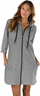 Speedo Women's Hooded Aquatic Fitness Robe and Cover-Up, with Full Front Zip