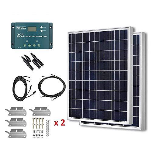 HQST 200W 12V Polycrystalline Solar Panel Kit...