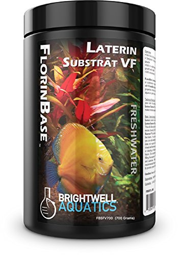 Brightwell Aquatics FlorinBase Laterin Substrat VF - Very Fine Granular High Porosity Clay Base Substrate for Planted and Freshwater Shrimp Aquaria, 700 Grams, (Model: FBSVF700)