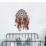 Bunte Wandaufkleber Verliebt Feder Ornament Traumfänger Windspiel Aufkleber Schlafzimmer Dekoration
