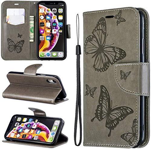 Oihxse Funda para iPhone X/iPhone XS Case Billetera PU Cuero Delgada Tapa Magnético Carcasa Libro...