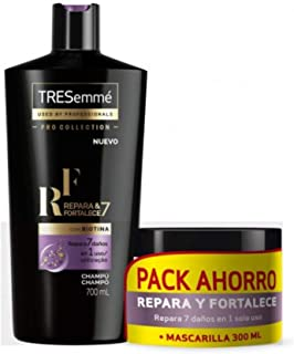 TRESEMMÉ - Confezione di shampoo 7 in 1 per ripara e rafforza 700 ml + maschera da 300 ml