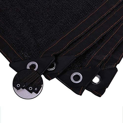 Shade Netting 90% Shading Rate Schwarz UV-beständig Schatten Tuch mit Verstärktes Band und eingegossenes Kabel (Größe: 5 x 12M) Größe: 10 x 15M (Size : 10×10M)