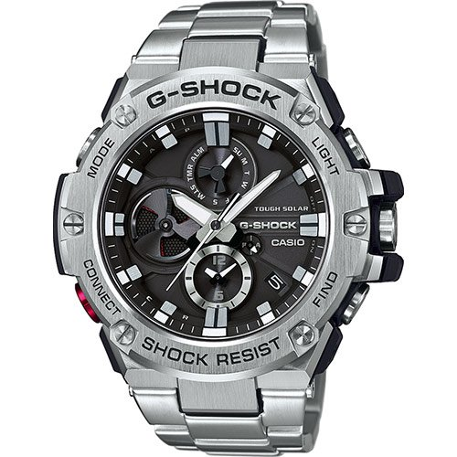 CASIO Reloj Hombre de Digital con Correa en Acero Inoxidable GST-B100D-1AER
