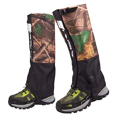GFYWZ Randonnée Jambe Camouflage guêtres imperméable à l'eau Respirante Jambe guêtres Chaussures Bottes couvertures pour la Montagne Trekking Ski randonnée Escalade Chasse