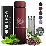 Multi-Purpose Travel Mug and Tumbler | Tea Infuser Water Bottle | Fruit Infused Flask | Hot & Cold...