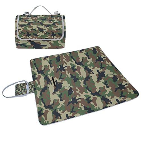 COOSUN Camouflage Muster Box Picknick-Decke mit Matte Schimmel resistent und wasserdicht Camping-Matte für rving, Picknickdecke, Strand, Wandern, Reisen und Ausflüge