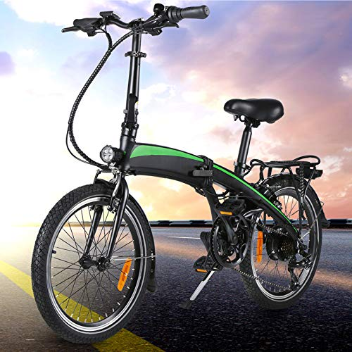Bicicleta Plegable electrica Adultos Bicicleta Plegable Bicicleta eléctrica de Altura Regulable Bicicleta Plegable eléctrica con Controlador de 5 velocidades Adecuado para Regalos para Adultos.