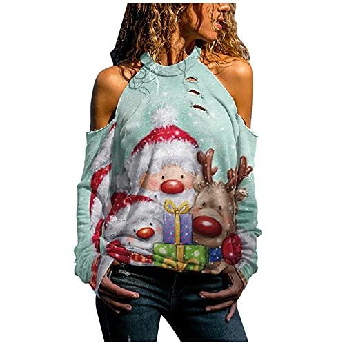 XTBFOOJ Weihnachten Damen Oberteile lang Hemd Damen elegant bouclé Mantel Lange wintermantel Damen Kleid Herbst Damen kostet frühlingsjacken für Frauen tischert Frauen Oversize Pullover Damen Vintage