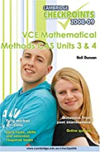 Cambridge Checkpoints VCE Mathematical Methods CAS Units 3 and 4 2009