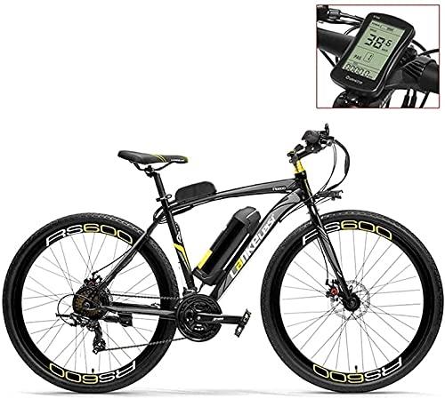 700C Pedal Assist Bicicleta Eléctrica 36V 20Ah Batería 300W Motor Aleación De Aluminio Marco Aerodinámico Ambos Frenos De Disco - 20-35Km / H Bicicleta De Carretera (Color: Redled, Tamaño: Estándar)