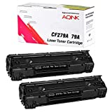 UniVirgin Compatible Toner Cartridge Replacement Compatible for HP 79A HP CF279A Toner Cartridge for Use in HP Laserjet Pro M12a, M12w, HP Laserjet MFP M26nw, MFP M26a Printer (Black, 2-Pack)