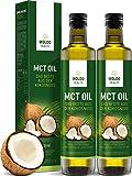 WoldoHealth 2x 500ml MCT Oil 100% huile de noix de coco en bouteille de verre goût...