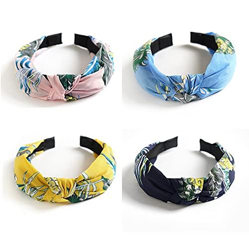 Banda di Boho Knoded per le donne sciarpa sciarpa elastica fascia di capelli Fashion Knot Turban Headband Elastic Hair Band Accessori per donne e ragazze