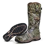 TIDEWE Rubber Hunting Boots with 800g Insulation, Waterproof Insulated Mossy Oak Country Camo Warm Rubber Boots with 6mm Neoprene, Durable Outdoor Muck Hunting Boots for Men (Size 8)