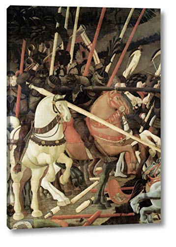 "Battle of San Romano (Detail) by Paolo Uccello - 14"" x 20"" Canvas Art Print Gallery Wrapped - Ready to Hang"
