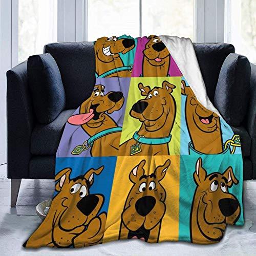 Yaxinduobao Scooby-Doo Überwurfdecke Mikrofaser Leichte, flauschige Kuscheldecke für Couch Schlafsofa 50 'X40