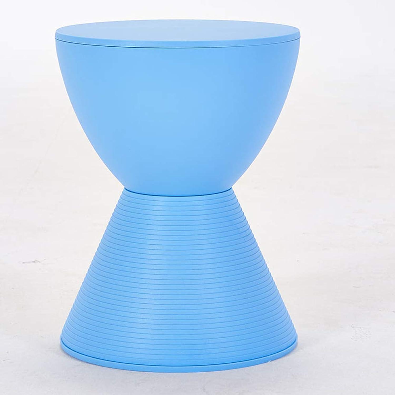 HZB Creative Plastic Stools, Small Stools, Simple Stools, shoes Stools, Sofa Chairs,bluee 1
