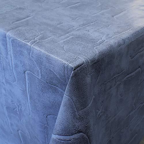 KEVKUS Wachstuch Tischdecke 160 cm Breite C171072 Jeans blau Pflaster wählbar in eckig rund oval (Rand: Schnittkante (ohne Einfassung), 110 x 160 cm eckig)