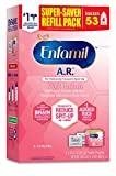 Enfamil A.R. Infant Formula - Clinically Proven to Reduce Spit-Up in 1 week - Refill Pack 30.4 oz Omega 3 DHA & Iron, Thickened with Rice Starch (Package May Vary)
