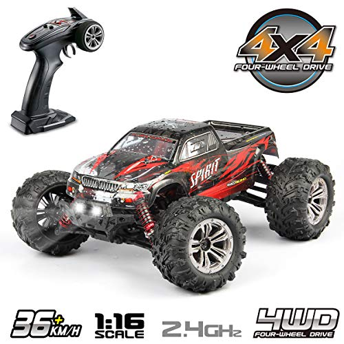 Hosim High Speed 36 km/h 4WD 2,4 Ghz Ferngesteuerte LKW 9135, 1:16 Skala Radio Conrtolled Offroad RC Auto Elektronische Monster Truck R/C RTR Hobby Cross-Country Auto Buggy (ROT)