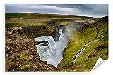 Postereck 3446 - Poster & Leinwand, Island Wasserfall