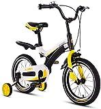 ZSY Bicicletas Bicicletas para niños, Bicicletas para niños Niños y niñas Bicicletas al Aire Libre 2-8 años de Edad Bizcocho 12/14 Pulgadas Bicicletas Deportivas (Color: Negro, Tamaño: 14 Pulgadas)