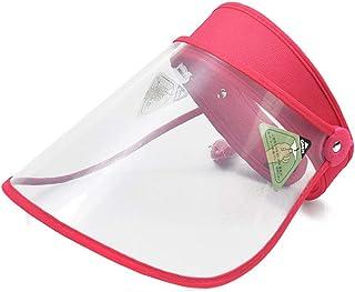 extra/íble Transparente Anti-Escupir Anti-Estornudos Cap Visera Clara Anti-Escupir Sombrero Sombrero de Sol Pescador,D TYQIAO Seguridad Protector de Cara Sombrero de Sol Anti-Saliva