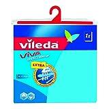 Vileda Viva Selection Ärmelbügelbrettbezug in blau - Schaumpolsterbezug für Ärmelbretter - dampfdurchlässig - 1cmx52cm