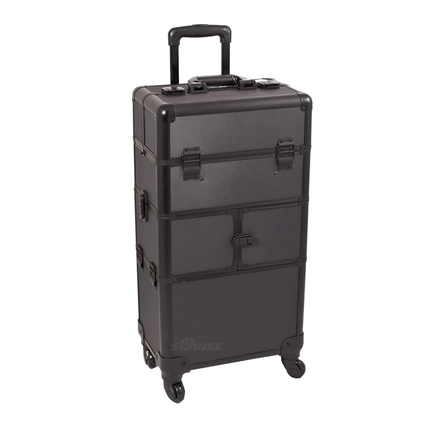 Craft Accents I3264 Dot Trolley Craft/Quilting Storage Case, Black