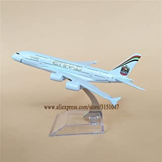 ZAMTAC New Alloy Metal Etihad Air Airlines Airplane Model Airbus 380 A380 Airways Plane Model Stand Aircraft Kids Gifts 16cm