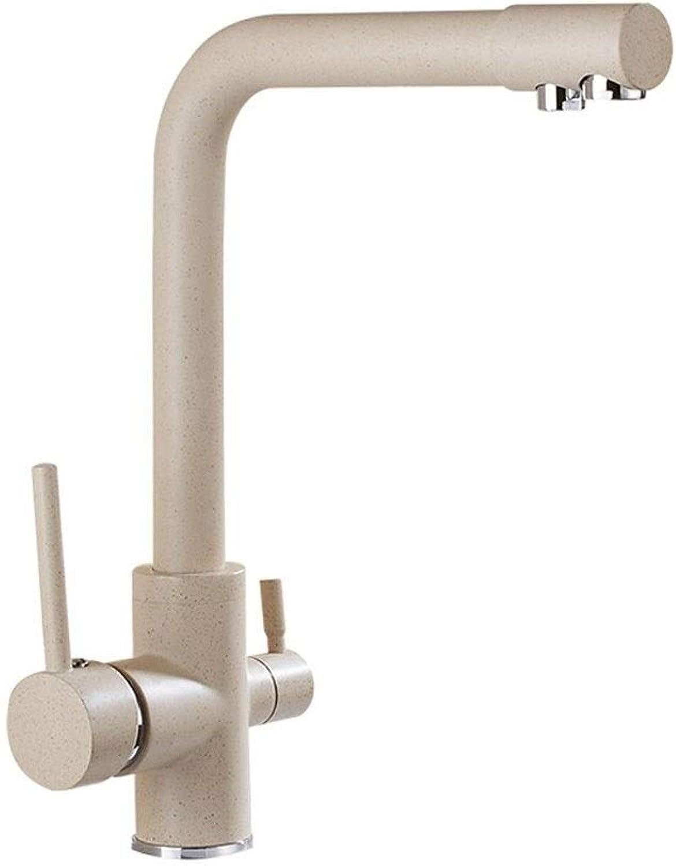 Anaf Weit verbreiteter Waschbecken-Wasserhahn mit Zwei Griffen und Aufstellablauf (Farbe   Beige)
