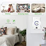 Vivosun 2-pack plug-in mini ionic air purifier ozone generator - portable odor eliminator, adjustable efficiency 10-50mg… 10 freshen your life: designed for domestic use, place this ozone generator wherever odors permeate like dressing rooms, dining rooms, kitchens, bathrooms, basements, and rooms with pets. Best used within enclosed spaces. Range: from 10–50mg/hr. Fitting for different environments and equipped with a performance indicator light. Vivosun air purifier only emits little to no noise while it in operating. Modern design: plug in to use, easy to carry. Just turn the wheel to start and regulate the production of ozone. Easy to use and transport.