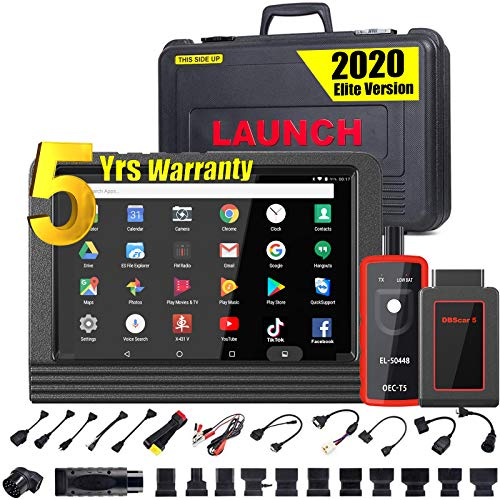 LAUNCH X431 V PRO (Same Function as X431 V+) Bi-Directional Scan Tool Full System Scanner,Key Programming,30+ Reset Functions ECU Coding ABS Bleeding,TPMS, Full Connector Kit- EL50448 TPMS Tool